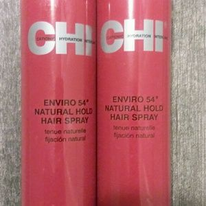 2 NWOT CHI ENVIRO 54° NATURAL HOLD HAIR SPRAY